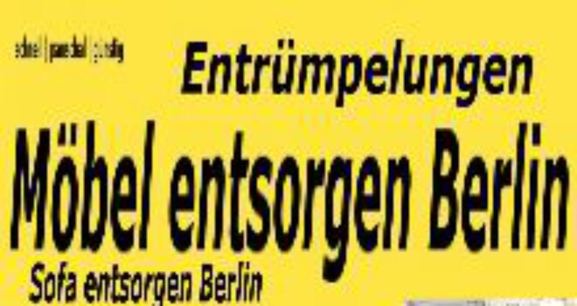 Entrümpelungen pauschal 80€ Berlin Schrank von Sperrmüll Entsorgung und Abholung preiswert Sperrmüll abholen entsorgen